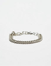 Smycken - Double U Frenk Chains Silver Bracelet No. #02