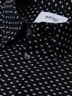 Skjortor - WESC Newton L/S Shirt Black
