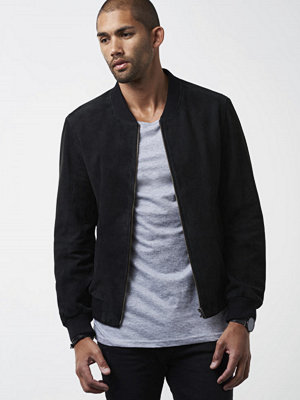 Skinnjackor - William Baxter Ross Suede Bomber Black