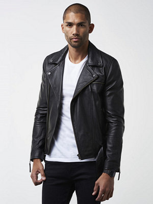 Skinnjackor - William Baxter Stevie Leather Jacket Black