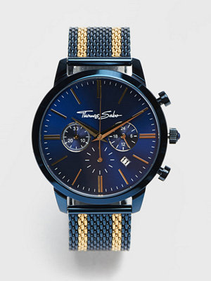 Klockor - Thomas Sabo Rebel Spirit Chrono Mesh Navy / Gold
