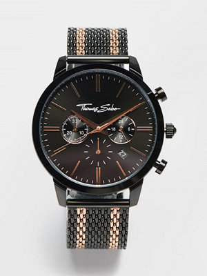 Klockor - Thomas Sabo Rebel Spirit Chrono Mesh Black / Rosé