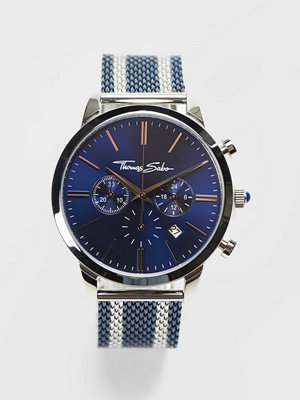 Klockor - Thomas Sabo Rebel Spirit Chrono Mesh Navy / Silver