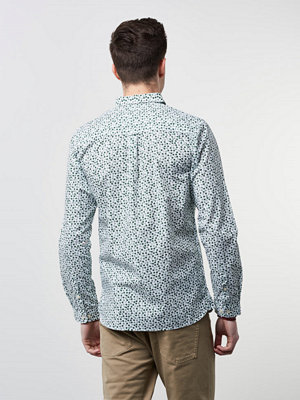 Skjortor - Knowledge Cotton Apparel Printed Shirt 1201 Green