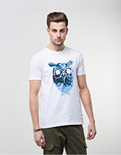 T-shirts - Knowledge Cotton Apparel Big Owl Tee 1010 White