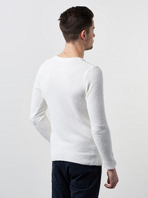 Tröjor & cardigans - Knowledge Cotton Apparel Moss Knit 1070 White