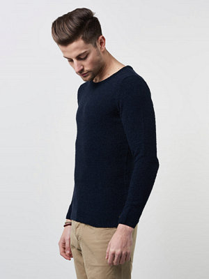 Tröjor & cardigans - Knowledge Cotton Apparel Moss Knit 1001 Navy