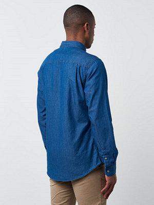 Skjortor - Lexington Clive Indigo Shirt Medium Blue Denim