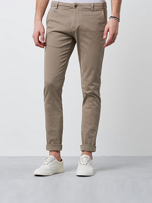 Byxor - Knowledge Cotton Apparel Stretch Chino 1165 Sand