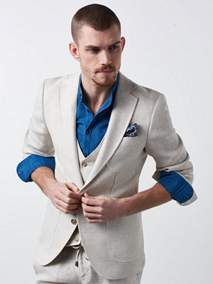 Kavajer & kostymer - Castor by Castor Pollux Tarius Blazer Hopsack Fabric