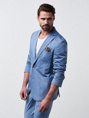 Castor by Castor Pollux Tarius Blazer Fog Blue Garment Dyed