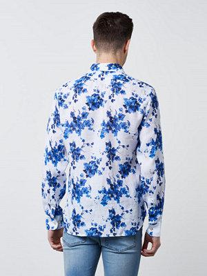 NILS Brobacka Big Linnen Flower 002 Blue