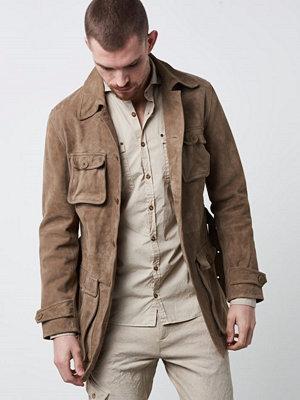 Skinnjackor - Castor Pollux Militarius Suede Jacket Kaki