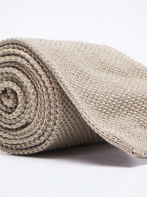 Slipsar - Castor by Castor Pollux Knitteus Knitted Tie Cotton Beige
