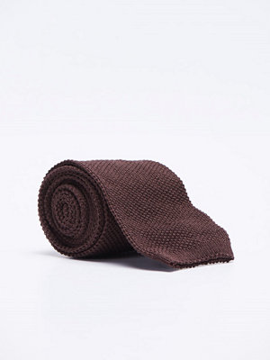 Slipsar - Castor by Castor Pollux Knitteus Knitted Tie Cotton Brown