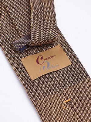 Slipsar - Castor Pollux Croatus Tie Gold/Navy Grenadine