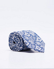 Slipsar - Castor by Castor Pollux Croatus Tie Flower Jacquard Indigo Blue