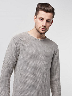 William Baxter Jagger Knitted Sweater Light Grey Melange