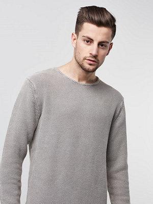 Tröjor & cardigans - William Baxter Jagger Knitted Sweater Light Grey Melange