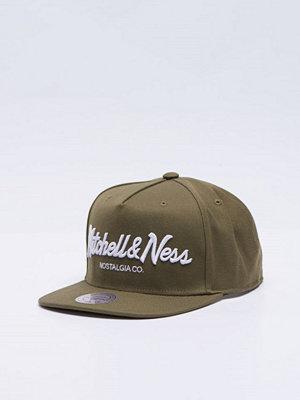 Mitchell & Ness Mitchell & Ness Pinscript Snapback Olive