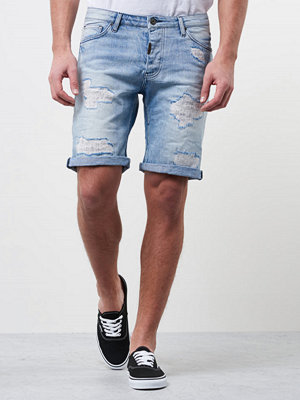 Shorts & kortbyxor - Adrian Hammond Nevada Shorts Bleached Repair Blue