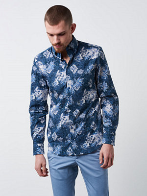 Castor Pollux Rex Shirt Flower Printed Blue