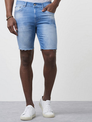 William Baxter Greg Denim Shorts Bright Blue