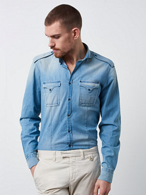 Skjortor - Castor Pollux Demonus Shirt Denim Superlight Blue