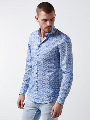 Skjortor - Castor Pollux Paros Shirt Printed Light Blue