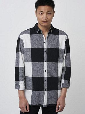 Skjortor - Tiger of Sweden Jeans Mellow Check 901 Black / White