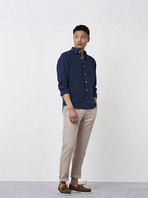 Lexington Ryan Linen Shirt Deepest Blue