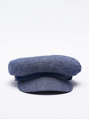 Kepsar - Brixton Fiddler Cap Denim/Dark Navy