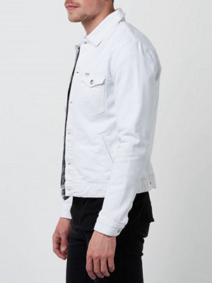 Jeansjackor - Wrangler Slim Denim Jacket White