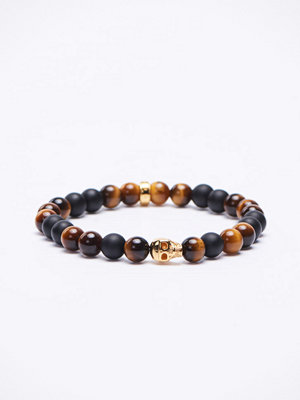 Smycken - Thomas Sabo A1509 Tigers Eye/Black/Gold Bracelet