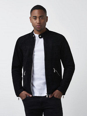 Skinnjackor - William Strouch Suede Jacket Black