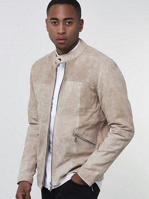 Skinnjackor - William Strouch Suede Jacket Beige