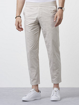Byxor - Filippa K Terry Cropped Pants Silver Beige