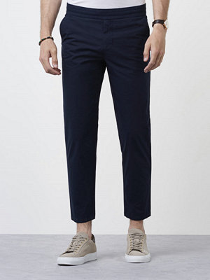 Byxor - Filippa K Terry Cropped Pants Navy