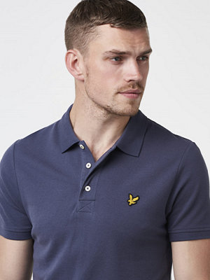 Pikétröjor - Lyle & Scott Garmentdyed Polo Shirt Washed Grey