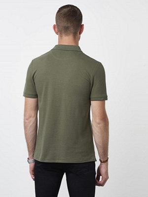 Pikétröjor - Lyle & Scott Garmentdyed Polo Shirt Dusty Olive