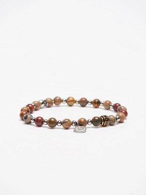 Smycken - by Billgren Bracelet 8116 Red/Green/Steel