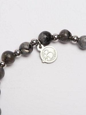Smycken - by Billgren Bracelet 8115 Grey/Steel
