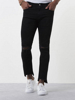 Jeans - William Baxter Ted Cropped Black Rip