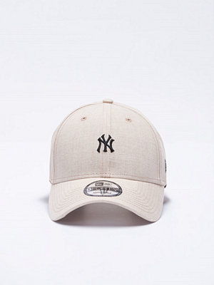 Kepsar - New Era 9 Forty Linen Small Logo NY Yankees Stone