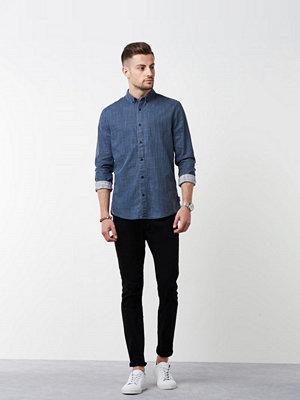 Skjortor - Calvin Klein Jeans Wilshner Coated Slub Shirt 402 Night Sky