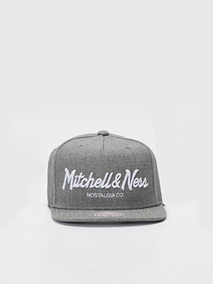 Mitchell & Ness Pinscript Snapback Own Brand Grey Heather