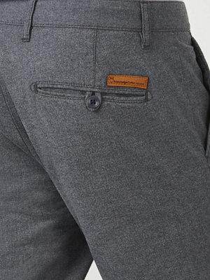 Byxor - Knowledge Cotton Apparel Flanel Twill Chino 1073 Dark Grey