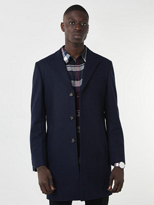 Knowledge Cotton Apparel Wool Coat 1001 Navy