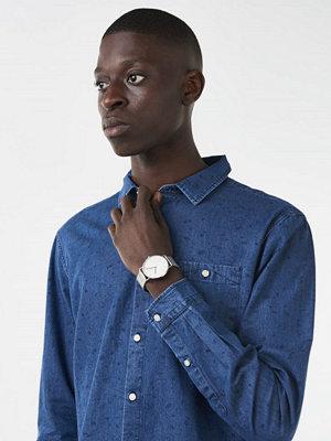 Skjortor - Knowledge Cotton Apparel Denim Concept Shirt 1105 Deep Sea