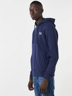 Street & luvtröjor - Under Armour Rival Fitted Full Zip 410 Navy